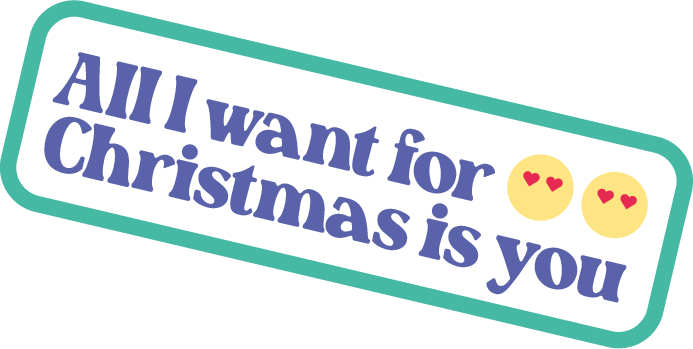 Sticker All I want for Christmas is you